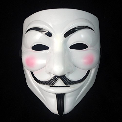 ANONYMOUS V FOR VENDETTA GUY FAWKES KOSTÜM HALLOWEEN GESICHTSMASKE - Weiß (V For Vendetta Kit)