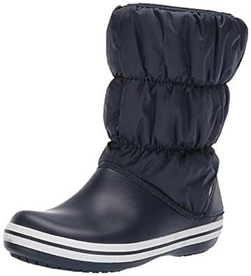 Crocs Winter Puff Boots, Stivali da Neve Donna, Blu (Navy/White), 34/35 EU