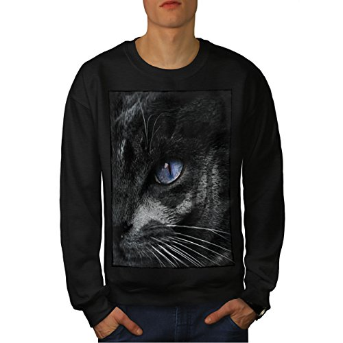 er Auge Katze Männer Sweatshirt Süß Lässiger Pullover ()