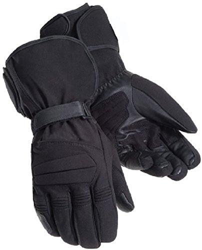 Juicy Trendz Textil Motorradhandschuhe Thermal Motorrad Handschuhe Wasserdicht L