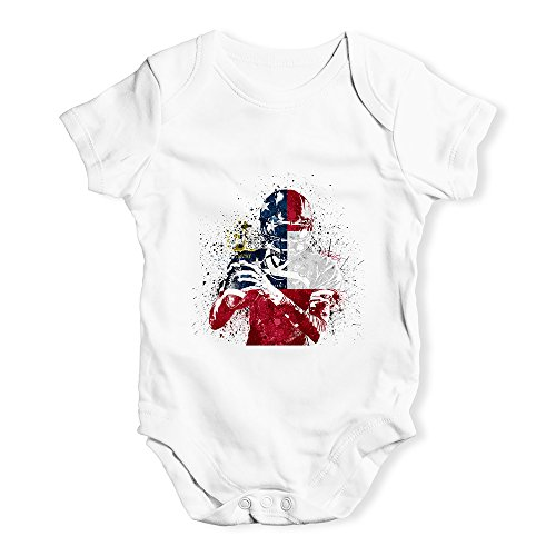 TWISTED ENVY Funny Baby Bodysuits Georgia American Football Player