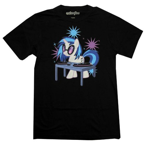 My Little Pony Twilight Sparkle DJ Mighty Fine Cartoon Adult Tshirt