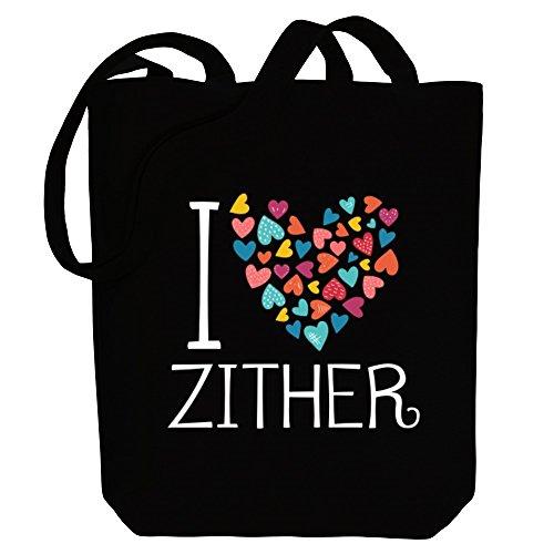 Site Athletics Idakoos I Love Zither Colorful Hearts - Instrumente - Bereich für Taschen