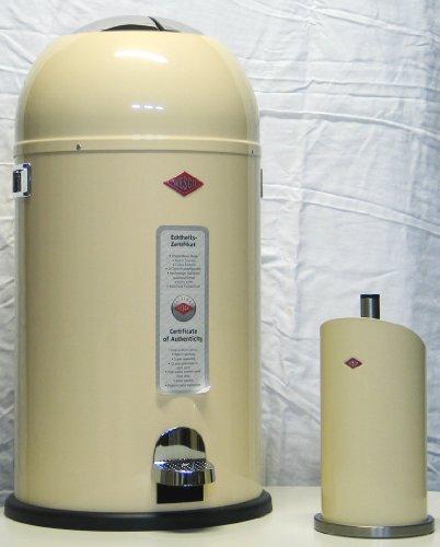 Preisvergleich Produktbild Wesco Kickmaster 33-Liter Abfallsammler & Küchenrollenhalter als Set, Farbe: mandel