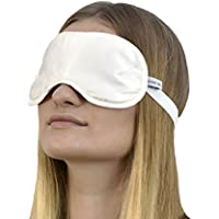 Jasmine Silk Luxus 100% Seide Schlafmaske Augenmaske Reisen Silk eye mask - Elfenbein preisvergleich bei billige-tabletten.eu