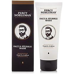 Limpiador facial y de barba incipiente de Percy Nobleman de 75 ml. Un limpiador facial hidratante y vigorizante para hombres.