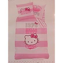 Cti 040722 Ropa de Cama Hello Kitty Brittany, Linón de Algodón, 135 x 200 Y 80 x 80 cm