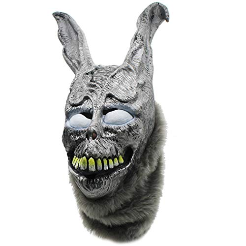 Zfggd Angry Rabbit Maske Frank böse Silber Kaninchen Tier Kopfbedeckung Party Tier Maske