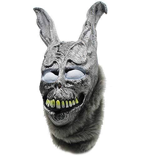 XINKONG Masken Wütende Kaninchenmaske Frank Evil Silver Rabbit Animal Kopfbedeckungen Party Animal Mask