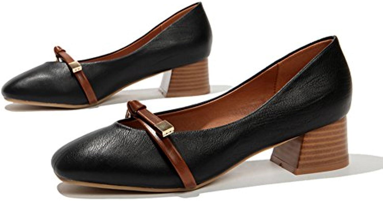 Otoño,Señora,Plana,Zapatos De Doug/Rugoso Con,Una Hebilla,Zapatos Nude