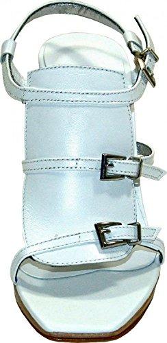 Apart Plateausandalette Leder weiss Weiß