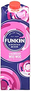 Funkin Strawberry Woo Woo Cocktail Mixer, 1 L - Pack of 6