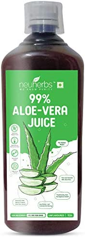 Neuherbs Aloe Vera Juice with Fiber and No Added Sugar : 1 L