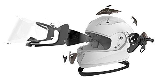 Motorradhelm Integralhelm Rollerhelm Fullface Helm – YEMA YM-829 Sturzhelm ECE mit Doppelvisier Sonnenblende für Damen Herren Erwachsene-Schwarz Matt-S - 6