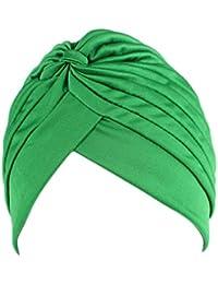 Bigood Vogue Turban Foulard Islamique Bonnet Perte de Cheveux Cancer Chimio  Chapeau 141e43805b1