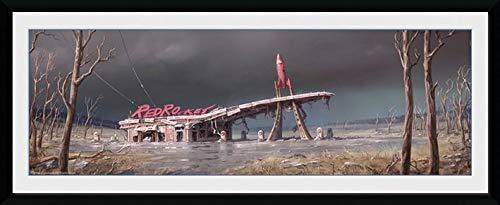 fallout bilder Fallout 4 - Red Rocket Gerahmtes Bild Standard