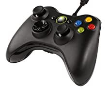 Xbox 360, PC - Controller per Windows con cavo, Nero