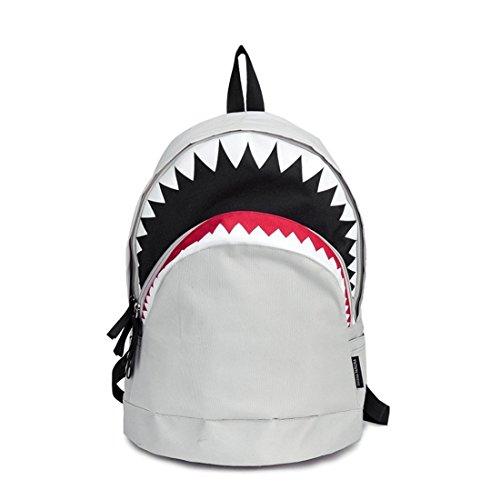 Coole Schultasche Big Shark Cartoon Rucksack Schwarz Bookbags Mode Grundschule Rucksäcke Jungen Rucksack Bagpack Gray - Louis Vuitton Canvas Rucksack