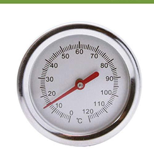 20 Zoll 50 cm Länge 0 ℃ -120 ℃ Kompost Soil Thermometer Premium Food Grade Edelstahl Metall Messfühler Detektor - Silber (Edelstahl-kompost-thermometer)
