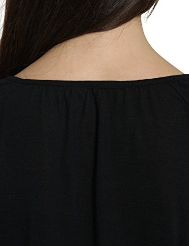 Berydale T-shirt raglan avec ourlet élastiqué pour femme Noir (Schwarz)
