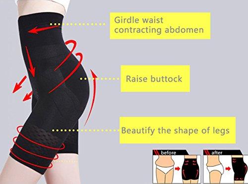 Befied Pantaloncino Snellente Pantaloncini Dimagranti Vita Alta Guaina Contenitiva e Modellante Shaper Push Up Mutande Contenitive Nero