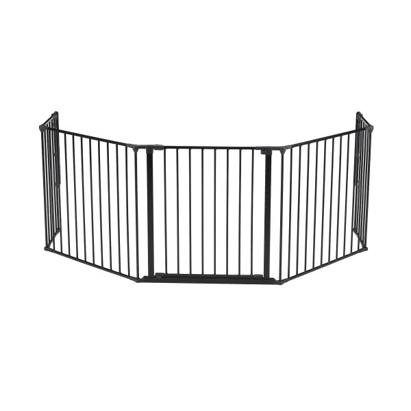 BabyDan Configure Gate Extra Large Black  Includes 1x 72cm Gate Panel, 2x 33cm Panels, 2x 72cm Panels and Wall Mounting Kit Multiple purposes: Can be used as a safety gate, hearth gate, room divider or play pen Flexible and easy to fit. One handed operation. Two way opening 5