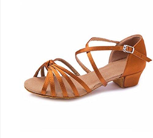 Scarpe da ballo - latino americano - bambine - ragazze - ballroom yl-074 (taglia 32 eu = 31 del produttore)