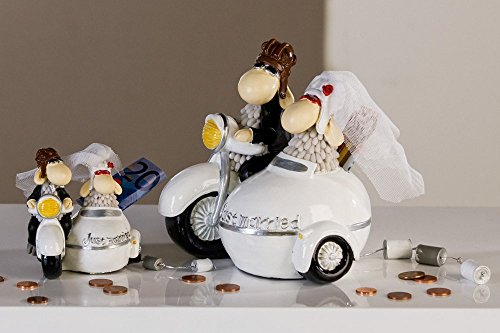 Spardose Hochzeit Motorrad mit Beiwagen