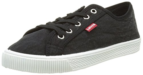 Levi's Malibu Beach S, Baskets Femmes, Noir (Regular Black 59), 36 EU