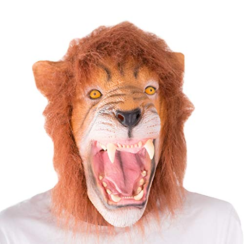 Bodysocks - Latex Gummi Löwe Tier Halloween Kostüm Maske (Löwe Maske Kostüm)