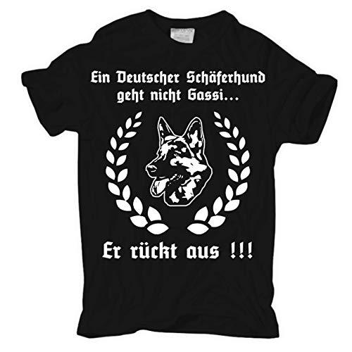 Männer und Herren T-Shirt Ein deutscher Schäferhund geht nicht Gassi.