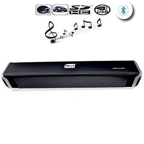 Home Bargain Soundbar Speaker Bluetooth Speaker Wireless Powerful TV Sound Bar Speaker(Free Hanging air freshener) Wireless Bluetooth Home Theater Subwoofer Bluetooth Soundbar for TV Pc Laptop
