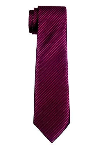 Retreez Jungen Gewebte Krawatte Textur Gestreifte - 8 - 10 Jahre - burgunder, weinrot (Gewebte Textur)