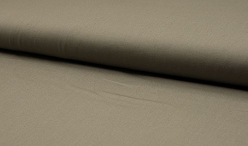 (6,30 € / M) Baumwollstoff Uni Baumwolle Meterware - verschiedene Farben (Light Khaki)