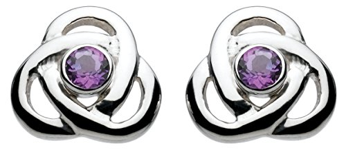 heritage-womens-sterling-silver-and-amethyst-knot-stud-earrings