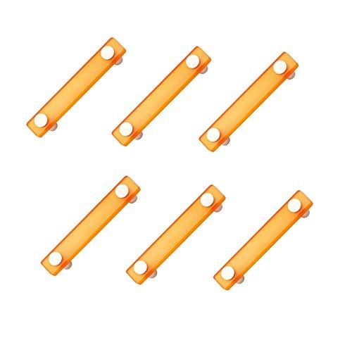 pomoline 6 un. maniglie mobile bambino piccolo resine arancione cromato opaco - distanza tra le viti 96mm