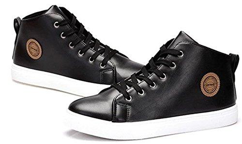 DADAWEN Hommes Chaussures Montantes Confortable Noir