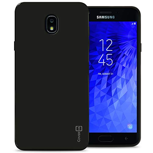 CoverON FlexGuard Serie für Samsung Galaxy J7 V 2. Generation, Galaxy J7 2018 / J7 Refine / J7 Star / J7 Aero / J7 Crown Case Slim Fit Weiche Flexible TPU Gummi Handyhülle, schwarz