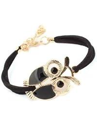 GirlZ! Fashion Lovers vintage owl bracelets : Black