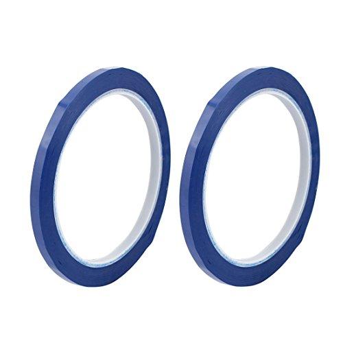 Blaue Mylar-band (sourcingmap® 2Stk 5mm Einseitig Stark Selbstklebend Mylar Band 50M Länge Logo Band Blau)