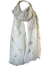 Folie Bedruckt Weiche Baumwolle Vogel Aufdruck Schals Umhängetuch Stahl Kopf