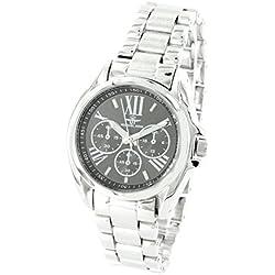 Damen-Armbanduhr Stahl Silber Michael John 1778