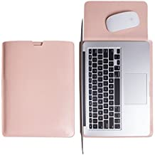WALNEW Schlanke Leder MacBook Air 13 Zoll Hülle, MacBook Schutzhülle, Hülle, Case, Cover, MacBook Pro Retina 13 Zoll Hülle mit Handgriff, geschütztes Inneres und externes Mousepad