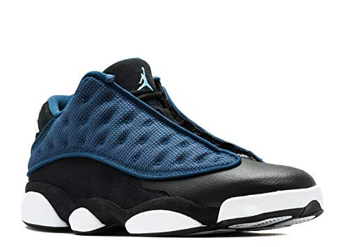Nike Mens Jordan 13 Retro Low Brave Blue/Silver Leather