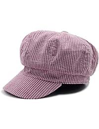 53c384e10366b Cokk Newsboy Cap Beret Women Winter Hat Vintage Thick Warm Beret Female  Octagonal Cap England Style