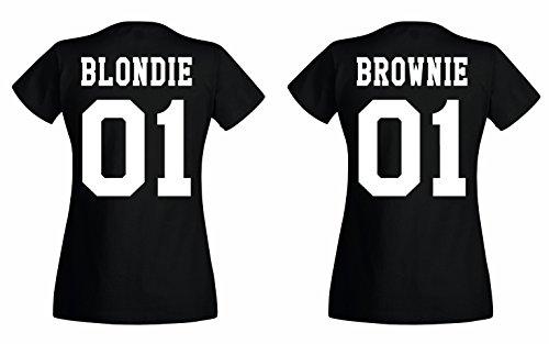 TRVPPY BFF Damen T-Shirt/Modell Brownie, Schwarz/Gr. XL