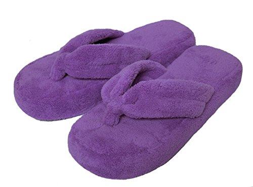 Onmygogo, Damen Plüsch Haus Hausschuhe Flip Flops (39-40 EU, Violett)