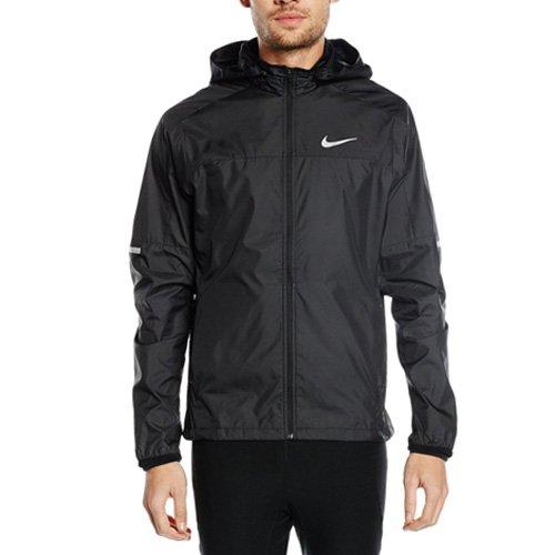 Nike Herren Laufjacke Vapor, Black/Reflective Silver, S