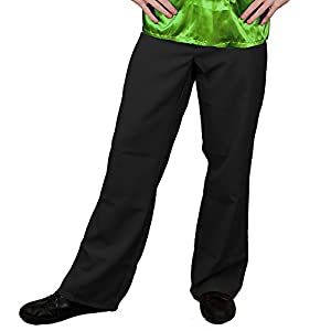 I Love Fancy Dress ilfd4607s/M Negro Disco Flares Mens Deluxe Disco pantalones pantalones discoteca rey de la 1970 70s Fancy Dress S/M