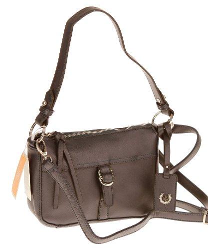 Ital-Design Valleverde Tasche Schultertasche Umhängetasche bag 25x17x8 cm (B:H:T) VV30 (TORTORA/hellbraun) T.MORO/dunkelbraun